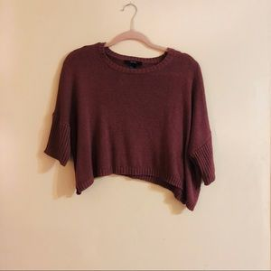 Forever 21 Tops - Burgundy Cropped Top